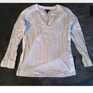 J. CREW Tunic Sz 4 Pheasant Button Shirt Top 4
